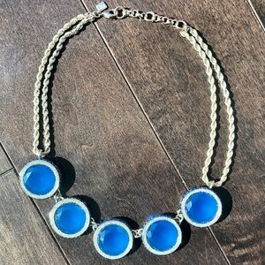 Banana Republic Jewelry - Banana Republic blue sparkly statement necklace